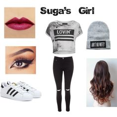 Suga's Girl by goahlis on Polyvore featuring Religion Clothing, Glamorous, adidas, Dimepiece, women's clothing, women's fashion, women, female, woman and misses