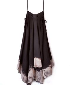 """Handkerchief Bleach Dress- pair with a cropped leather jacket, lace up """"combat"""" style boots and dark lips."""