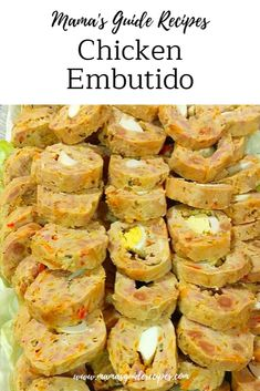 If you want to cook Embutido but not a fan of pork meat. Don't worry because Chicken Embutido is here, it doesn't need to be just pork all the time. Zoodle Recipes, Pork Recipes, Gourmet Recipes, Chicken Recipes, Cooking Recipes, Filipino Recipes, Asian Recipes, Filipino Food, Filipino Dishes
