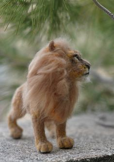 Needle felted Animal. Lion. King of Beasts. by darialvovsky