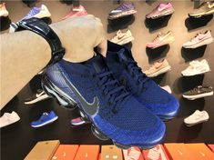 41ed6491f6247 Nike Air Vapormax Flyknit Day Of Night 849558 400 College Navy Black-Game  Royal Shoe