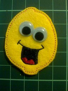 Lemon Felt Fridge Magnet