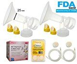 Maymom Breast Pump Kit Compatible with Medela Pump in Style Advanced Breast Pumps; Breastshields (one-Piece, 4 Valves, 6 Membranes, 2 Pump-in-Style Tubing; Can Replace Medela Valve Gerber Bottles, Kit, Ecommerce, Medela Pump In Style, Exclusively Pumping, Increase Milk Supply, Medical