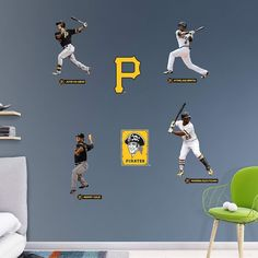 Pittsburgh Pirates Power Pack Wall Decals by Fathead, Multicolor