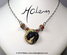 Black Horse necklace Can be made from pictures of your horse or the one you dream of! Immortalize your horse today! Malem is a glass artist Horse Necklace, Glass Jewelry, Glass Art, Horses, Pendant Necklace, Sculpture, Pictures, Artist, Black