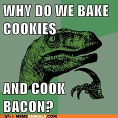 Why do we bake cookies and cook bacon?