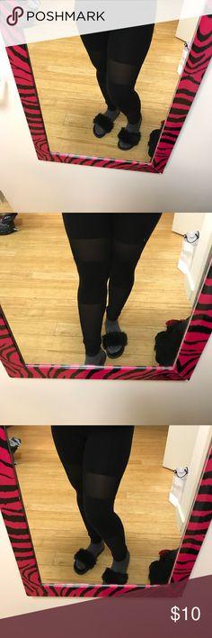Black leggings Black mesh H&M leggings H&M Pants Leggings