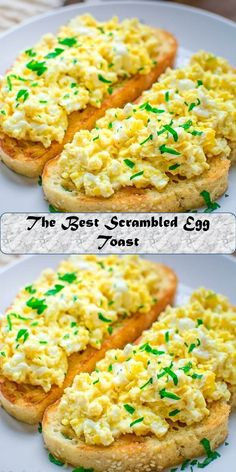 The Best Scrambled Egg Toast Egg Toast, Scrambled Eggs, Risotto, The Best, Juice, Roast, Tacos, Ethnic Recipes, Sweet