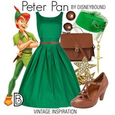 DisneyBound is meant to be inspiration for you to pull together your own outfits which work for your body and wallet whether from your closet or local mall. As to Disney artwork/properties: ©Disney Disney Themed Outfits, Disneyland Outfits, Disney Bound Outfits, Disney Dresses, Disney Clothes, Dapper Day Outfits, Cute Outfits, Peter Pan Outfit, Disney Dapper Day