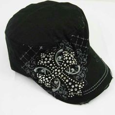 5b4f32e887a Dublin Bling Cross on Black Cap