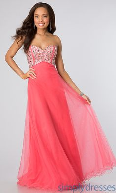 Classic Strapless Sweetheart Gown, Evening Gowns - Simply Dresses $158