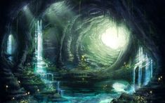 Fantasy Concept Art, Fantasy Artwork, Fantasy Places, Fantasy World, Fantasy Forest, Fantasy City, Dark Fantasy, Fantasy Background, Fantasy Art Landscapes