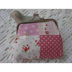 Portemonnaie rosa-weiss