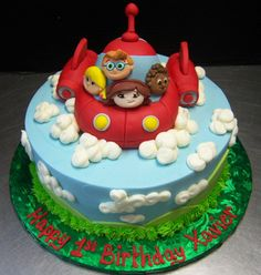 Little Einsteins Birthday Cake. Decorated by Tasty Layers Custom Cakes (kids birthday cake) 4th Birthday Party For Boys, 5th Birthday Cake, Kids Birthday Themes, Little Einsteins Cake, Little Einsteins Birthday, Little Boy Cakes, Rocket Cake, Love Cake, Custom Cakes