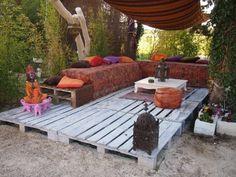 Terrasse en palette table basse palette cool