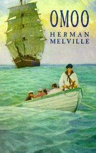 Capa de Omoo, lançado em 1847, relata várias aventuras e peripécias vividas por Herman Melville.