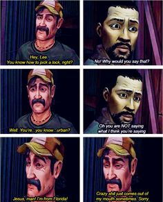 Kenny and Lee   funny The Walking Dead (Telltale Game)