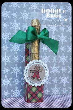 I've been seeing these cute things all over the place. So, I thought I'd make my own version with the test tubes we have here at the store. Christmas Craft Fair, Christmas Crafts For Gifts, Christmas Gift Box, Stampin Up Christmas, Christmas Sweets, Craft Gifts, Diy Gifts, Christmas Cards, Xmas