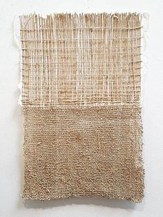Chloe Bensahel, Text, Silk and Japanese (washi) paper. Weaving Textiles, Weaving Art, Tapestry Weaving, Textile Fiber Art, Textile Artists, Systems Art, Creative Textiles, Weaving Techniques, Fabric Art