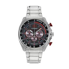 You're sure to admire the sleek, powerful design of Citizen Men's Eco-Drive Chronograph Watch. With chronograph details for precision time-keeping and a two-tone dial for a modern look, this watch is ideal for everyday wear. Cool Watches, Watches For Men, Men's Watches, Fine Watches, Thing 1, Skeleton Watches, Online Watch Store, Citizen Eco, Audemars Piguet