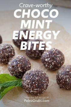 Protein Bites, Protein Ball, Protein Snacks, Mint Chocolate, Vegan Chocolate, No Bake Energy Bites, Energy Balls, Healthy Baking, Healthy Desserts