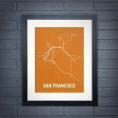 S.F. Transit Map