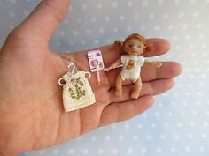 OOAK miniature Baby GIRL doll dollhouse art 12th scaled 1/12 + tiny Outfit  | eBay