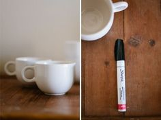 Don't Mind if I Do: DIY: Personalized Mugs (aka Sharpie Mugs) let's try this again... 1st time failed