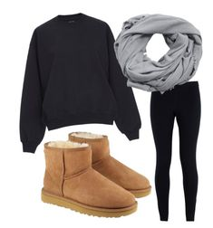 """Untitled #52"" by valeloveschocolate on Polyvore featuring NIKE, MANGO, UGG and winterscarf"