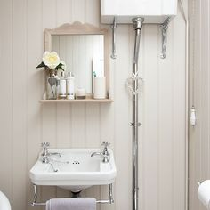 Cream vintage-style bathroom   Bathroom decorating   Ideal Home   Housetohome.co.uk