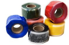 Silicon Rescue Tape Rolls Creates a Permanent Air-Tight, Water-Tight Seal in seconds!  • Never gets gummy or sticky like electrical or duct tape - No messy cleanup!  • Has an unbelievably long shelf life!  • Is extremely versatile - The fixall repair product that you've been looking for!  • Resists Fuels, Oils, Acids, Solvents, Salt Water, Road Salt, UV Rays