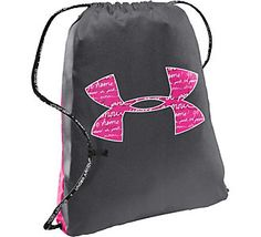 This Under Armour Sporty Sackpack shows your support for the fight against breast cancer | A portion of the proceeds is donated to national breast cancer charities and medical centers. #scheels #thinkpink