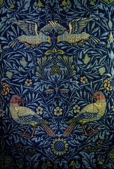 Bird, woven woolen double cloth, c. 1875, designed by William Morris for the walls of his drawing room at Kelmscott House, London