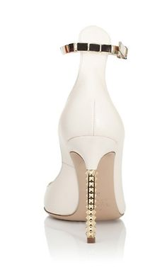 Valentino Resort 2013 white Pumps with tiny Studs on the #Heels #Shoes