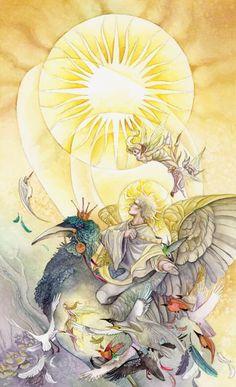 'Sun' tarot card....Stephanie Pui-Mun Law - Shadowscapes Tarot - Fantasy Art