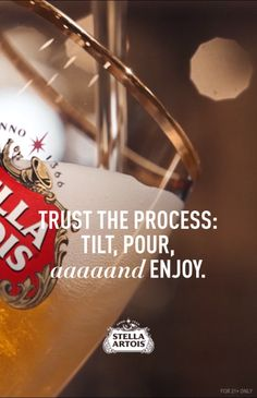 At Stella Artois, we