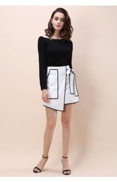 Urban Vogue Flap Skirt in White - Retro, Indie and Unique Fashion