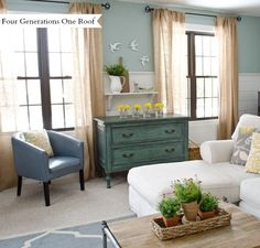 Best DIY projects + tutorials for the month of March by Four Generations One Roof - How to decorate a spring mantel