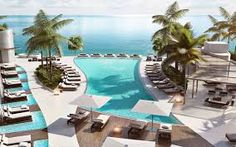 Pool view at Paramount Condo Fort Lauderdale Florida Fort Lauderdale Real Estate, Fort Lauderdale Beach, Condos For Rent, Condos For Sale, Miami, North Tower, Beach Design, Resort Style, South Florida