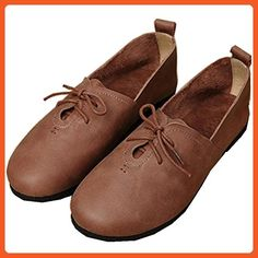 242dc39c8ac FENIKUSU Women s New Handmade Moccasins Leather Loafer Flats Shoes (7