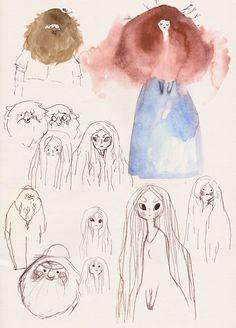 Art Et Illustration, Character Illustration, Sketchbook Inspiration, Art Sketchbook, Art Inspo, Bel Art, Character Art, Character Design, Hansel Y Gretel