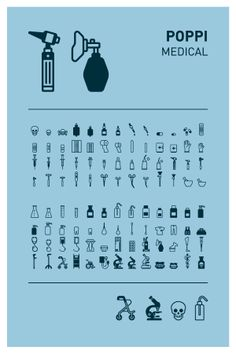 Poppi Pictograms – Medical  www.emigre.com #pictograms #icon #graphicdesign #vector #vectorgraphics #illustration #martinfriedl