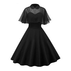 Clothing Womens Vintage Rockabilly Pinup Strap Flare Swing Evening Formal Party Dress with Cloak Ladies Retro Prom Dresses Pretty Dresses, Women's Dresses, Fashion Dresses, Fashion Clothes, Pin Up Dresses, Dresses Online, Retro Prom Dress, Vintage Homecoming Dresses, Swing Dress 50s