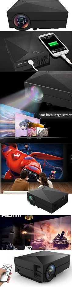 Home Theater Projectors: 7000Lumens Full Hd1080p Led Lcd 3D Vga Hdmi Tv Home Theater Projector Cinema Kn BUY IT NOW ONLY: $59.45