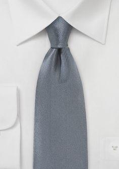Corduroy Silk Tie in Smoke Gray