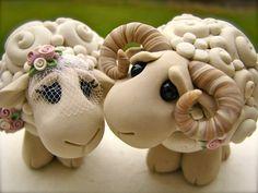 Me encanta recuerdo de oveja Topper de la torta por theaircastle