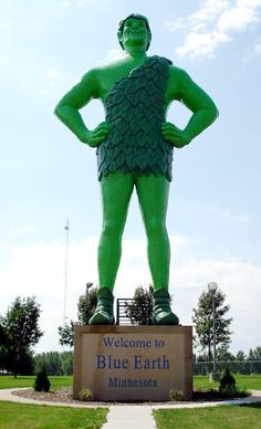 The Jolly Green Giant, in MN - We were there the day they erected this statue!!!!  I've seen him from the roadside.  HoHoHo---Green Giant.   ~~~Bev