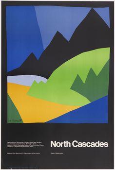 Ivan Chermayeff, poster North Cascades, 1972. Chermayeff & Geismar Associates, USA. Via Cooper Hewitt