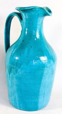 """Southern Art Pottery Floor Pitcher, Seagrove, NC Cole Family, early/mid-20th century. H19"""""""