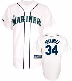 Seattle Mariners Felix Hernandez Replica Home Baseball Jersey Seattle  Mariners 0de1fd514a9a